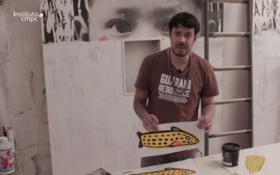 Novos vídeos das Oficinas FibraLAB ensinam as crianças as técnicas para criar stencil, carimbos, teatro de sombras e máscaras