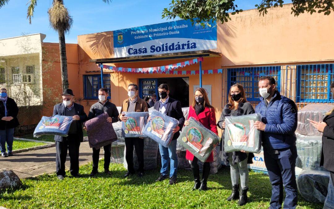 CMPC doa 443 cobertores para a Casa Solidária de Guaíba